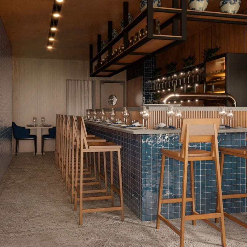 Latitude 25 Helsinki ravintolan suunnittelu