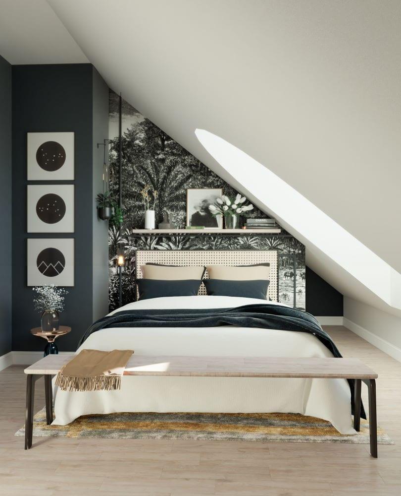 Kodin sisustussuunnittelu makuuhuone