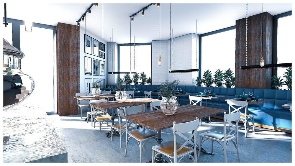 Ravintola Dos Pulpos sisusutussuunnittelu