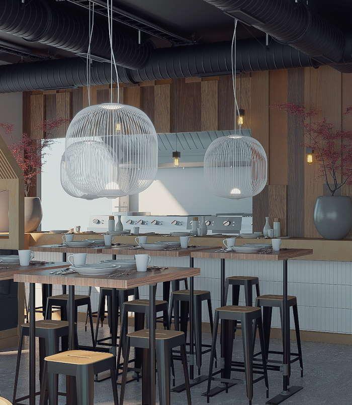 Ravintola Tiny Town / Otaru Sushi Porvoo sisustussuunnittelu