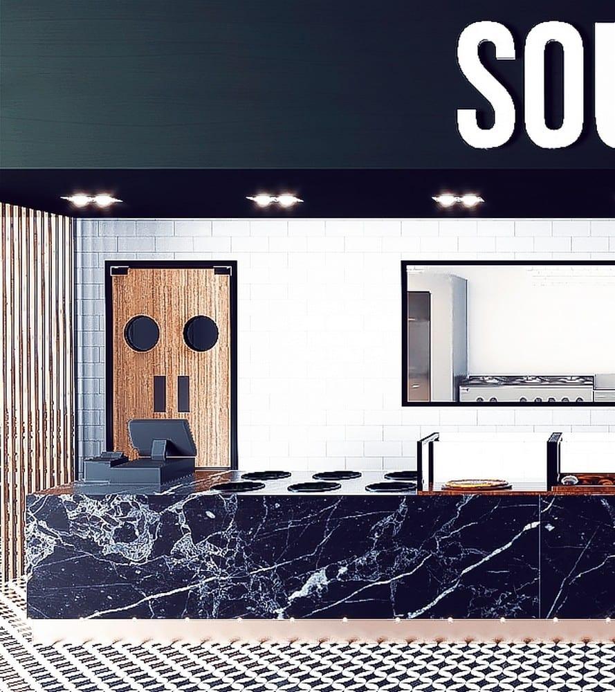 Ravintola Soupie Tripla Helsinki Pasila sisustussuunnittelu
