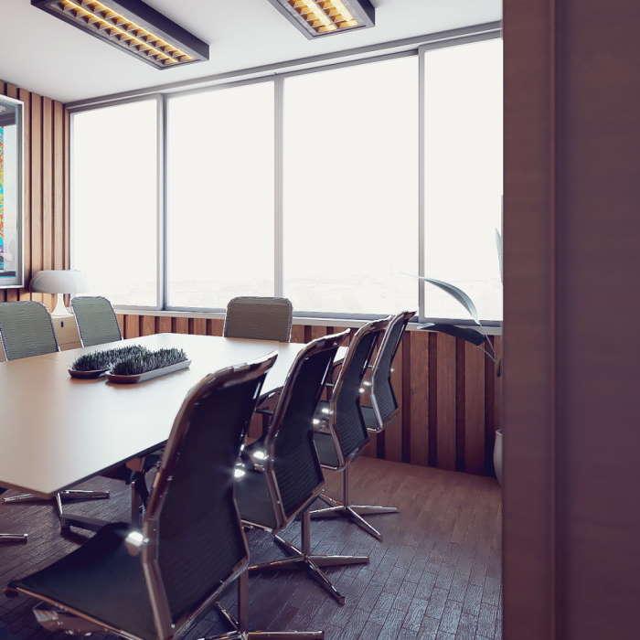 Toimiston kokoushuoneen sisustussuunnittelu