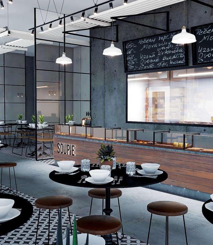 Ravintola Soupie Kauppakeskus Tripla sisustussuunnittelu